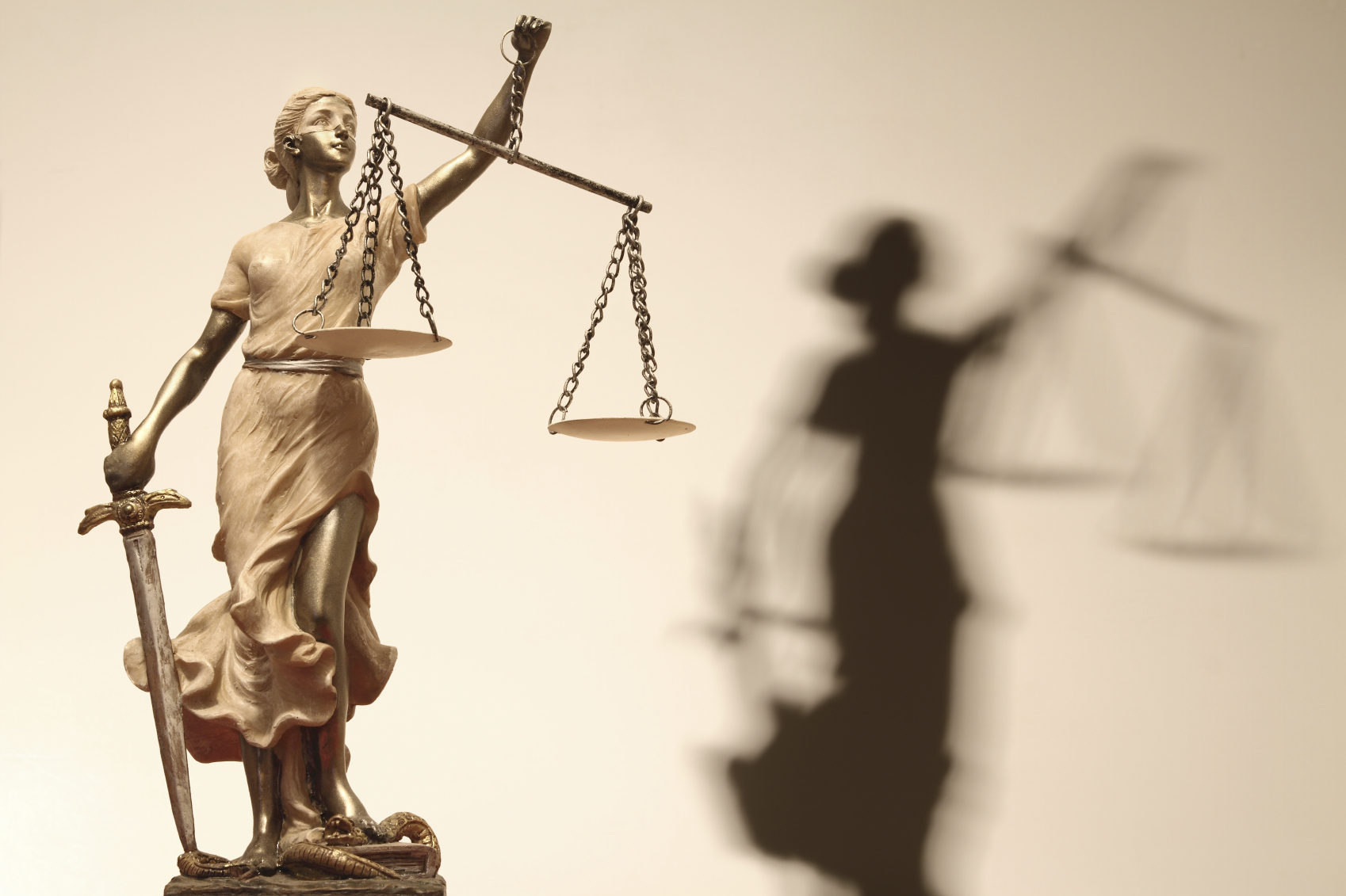 Scales of justice for Farcical law